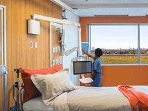 Wall Mount Monitor Arms at Humber River Hospital, Toronto